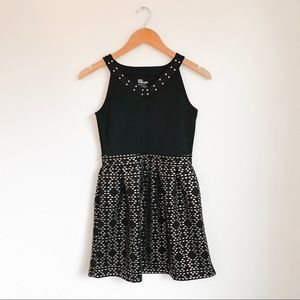 Epic Threads Girls Black and Gold Dress